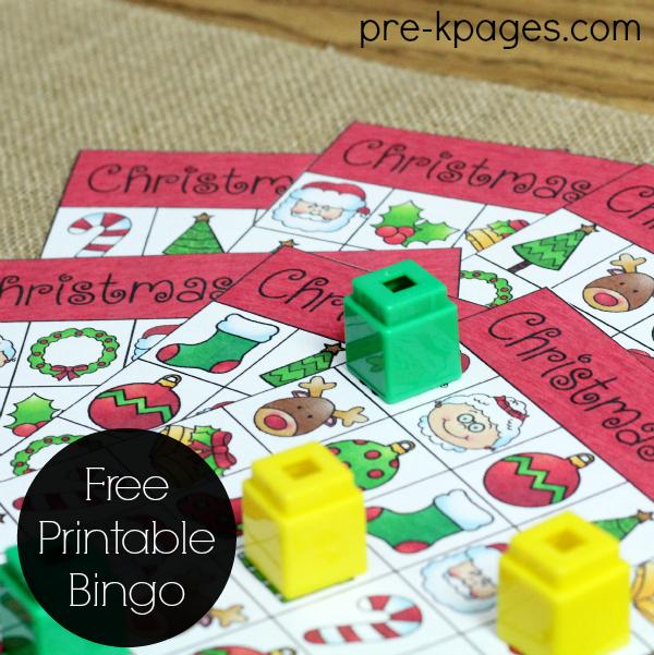 Christmas Bingo Game Printable for Preschoolers