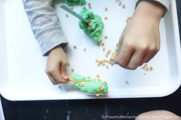 rolling corn play dough