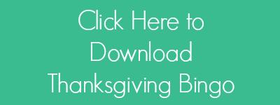 Thanksgiving Bingo Button