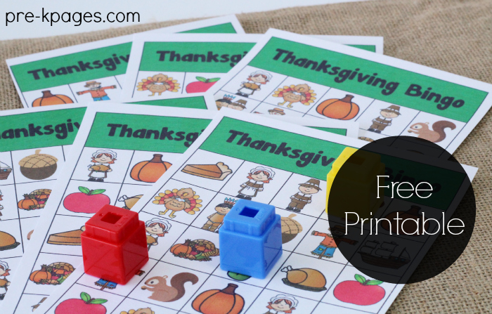 Thanksgiving Bingo Game for Preschool