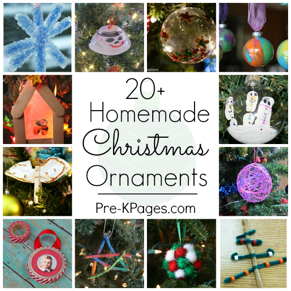 20 Easy Christmas Ornaments Preschoolers Can Make Pre K Pages