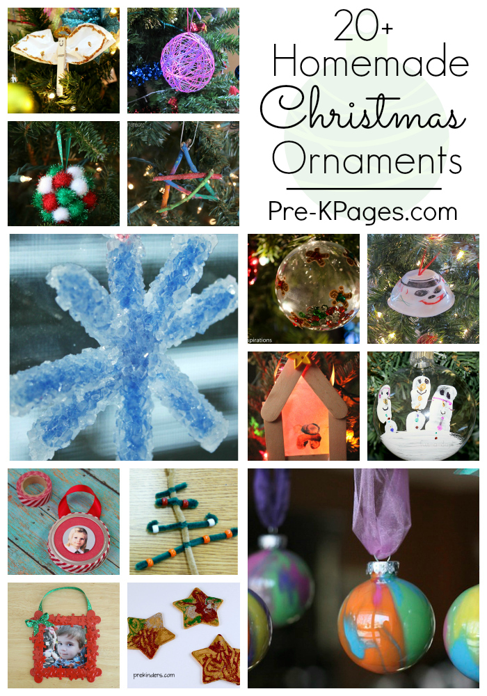20+ Homemade Christmas Ornaments for Kids