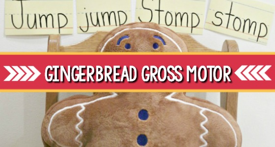 Gingerbread Man Gross Motor Activity