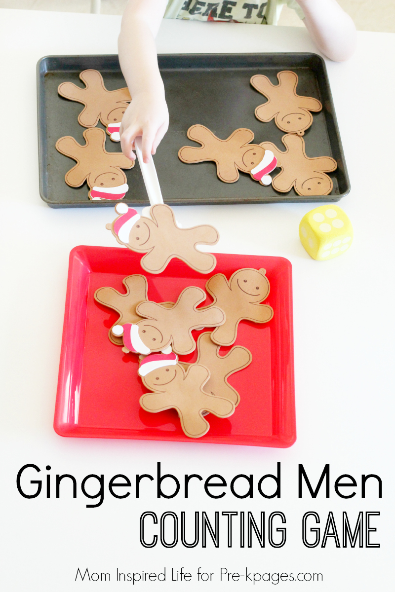 Gingerbread Man Counting Game for preschool