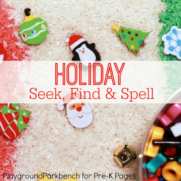 christmas sensory and writing activity for preschool