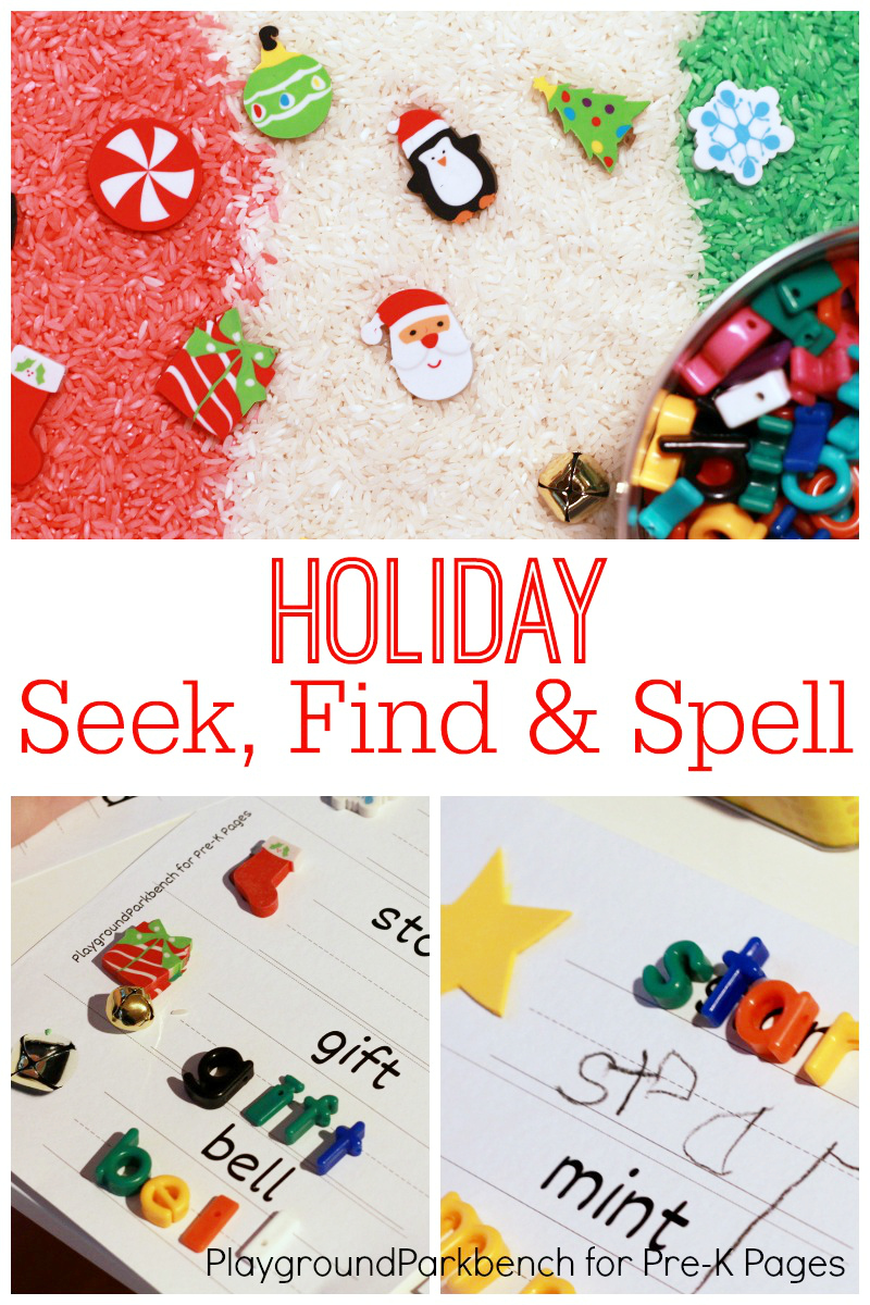 Christmas Seek Find and Spell