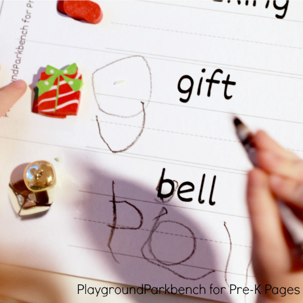 christmas writing activity for preschool