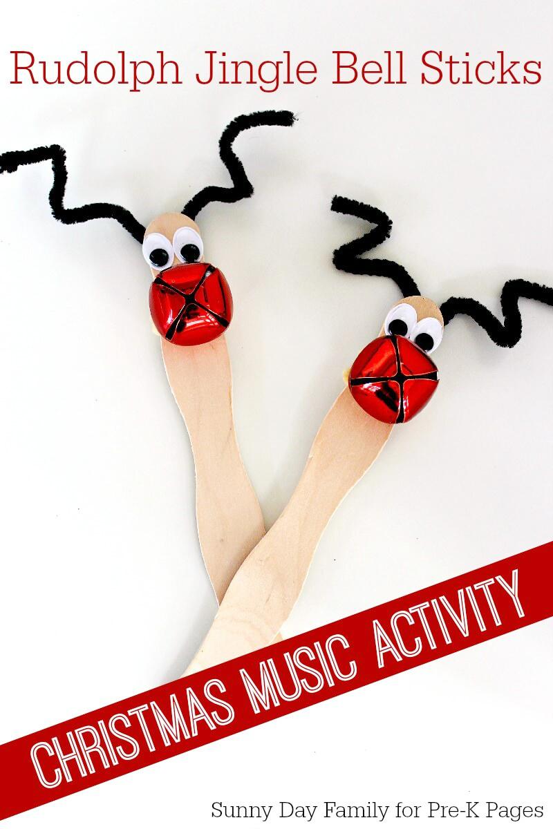 Pre K Christmas Craft.Christmas Jingle Bell Sticks Pre K Pages