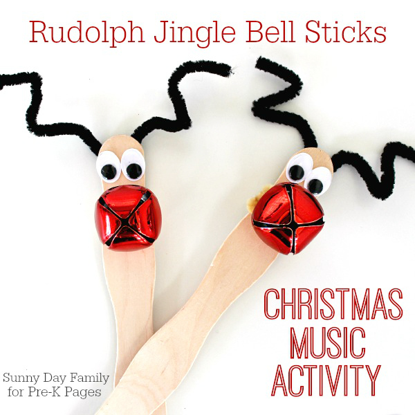 Rudolph Jingle Bell Sticks