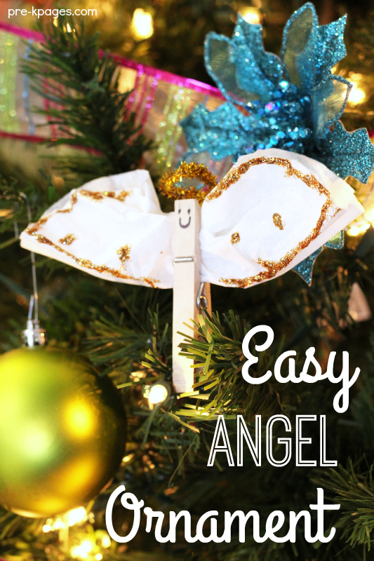 Easy Christmas Angel Ornament Kids Can Make