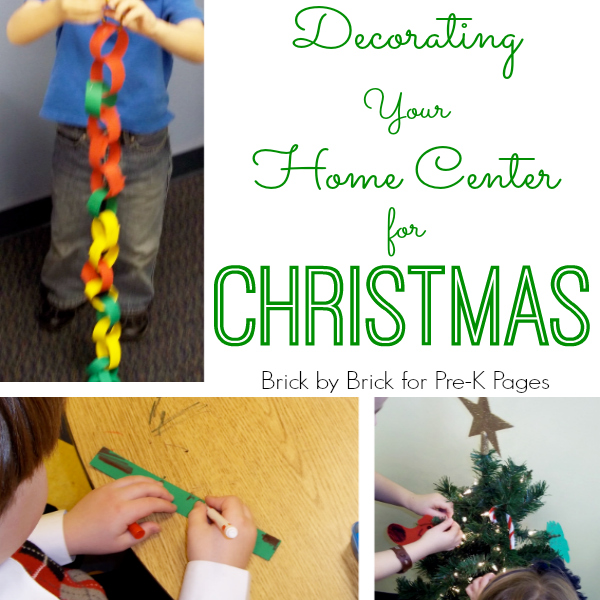 christmas decorating home center for preschool