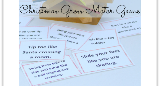 Christmas Gross Motor Game
