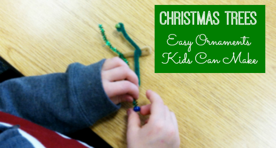 Easy Pipe Cleaner Christmas Tree Ornaments