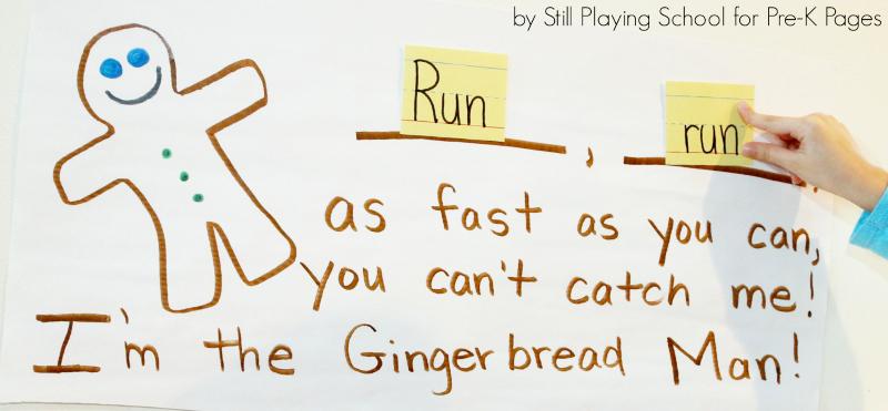 gingerbread man activity