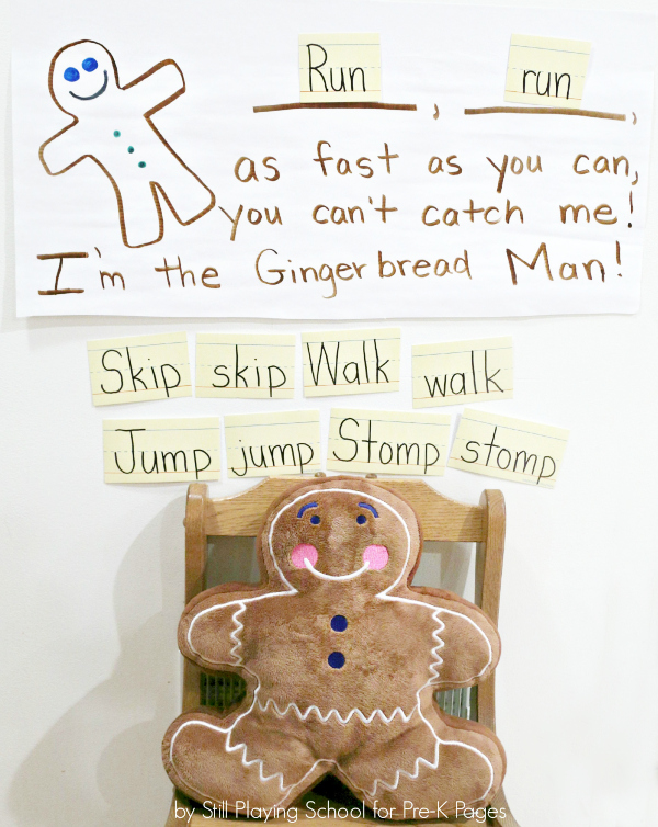 gingerbread gross motor activity