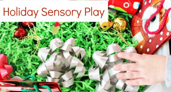Christmas Gift Wrap Sensory Bin