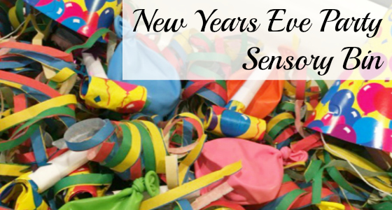 New Years Eve Party Sensory Bin
