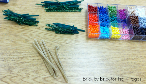 ornaments chenille stems and beads