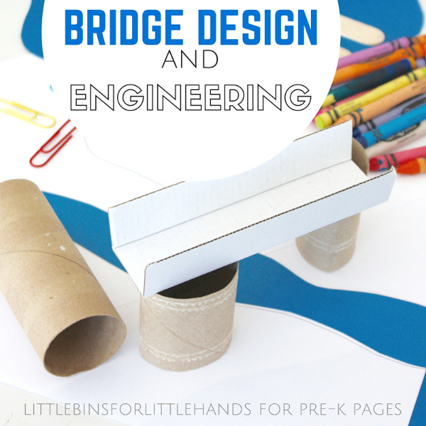 Building Bridges Preschool STEM Activity