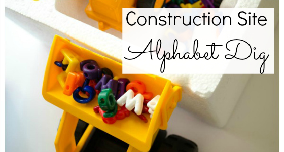 Construction Site Alphabet Dig Activity