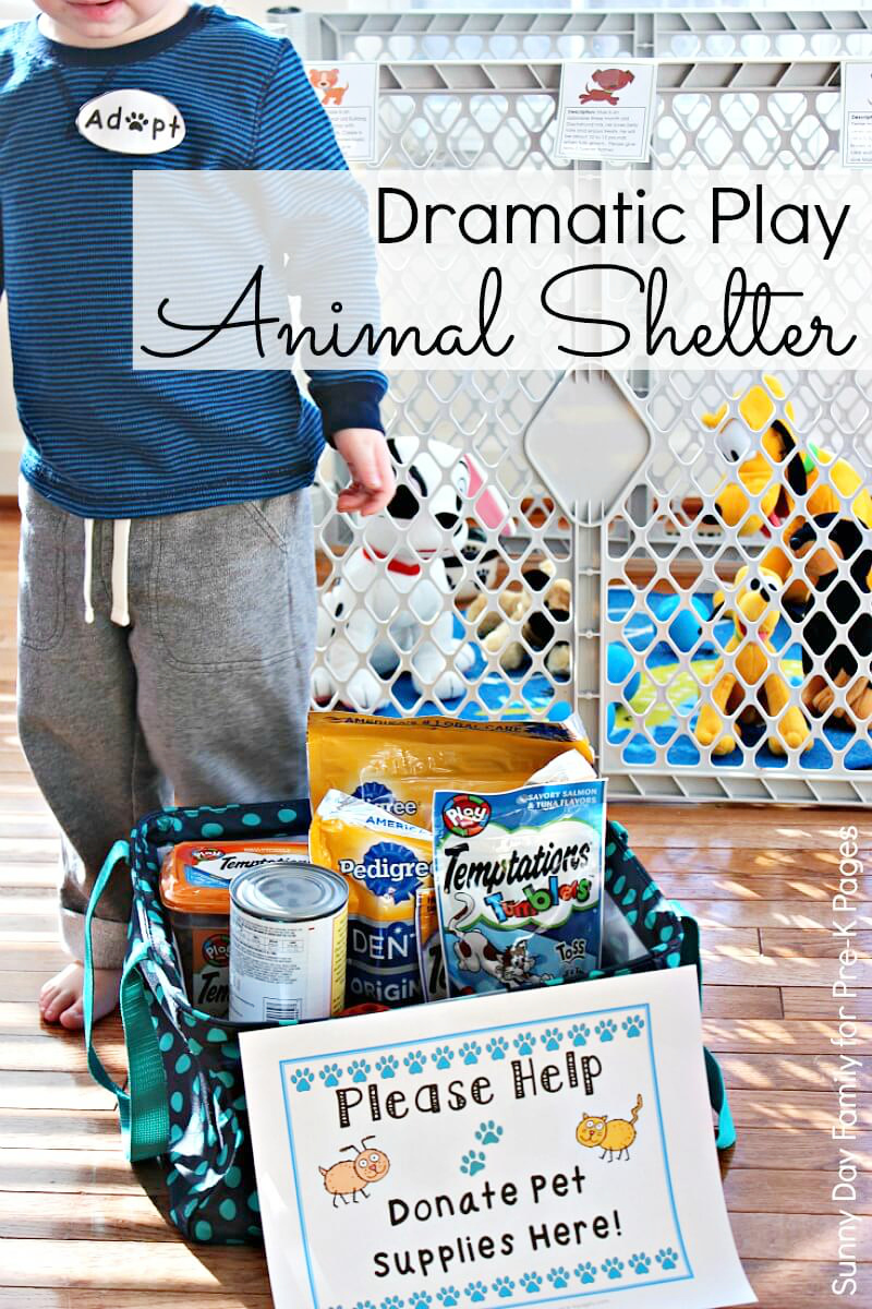 Dramatic Play Animal Shelter for pre-k