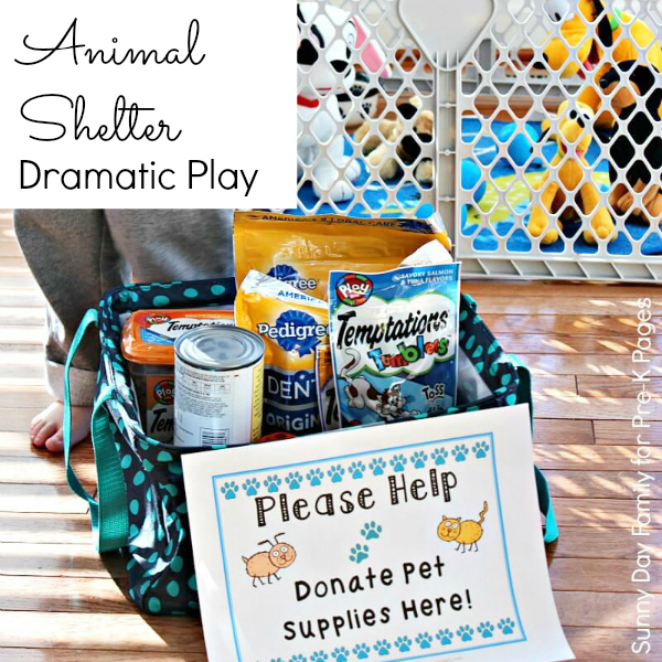 Dramatic Play Animal Shelter for preschool