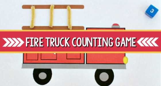 Fire Truck Counting Game for Preschool