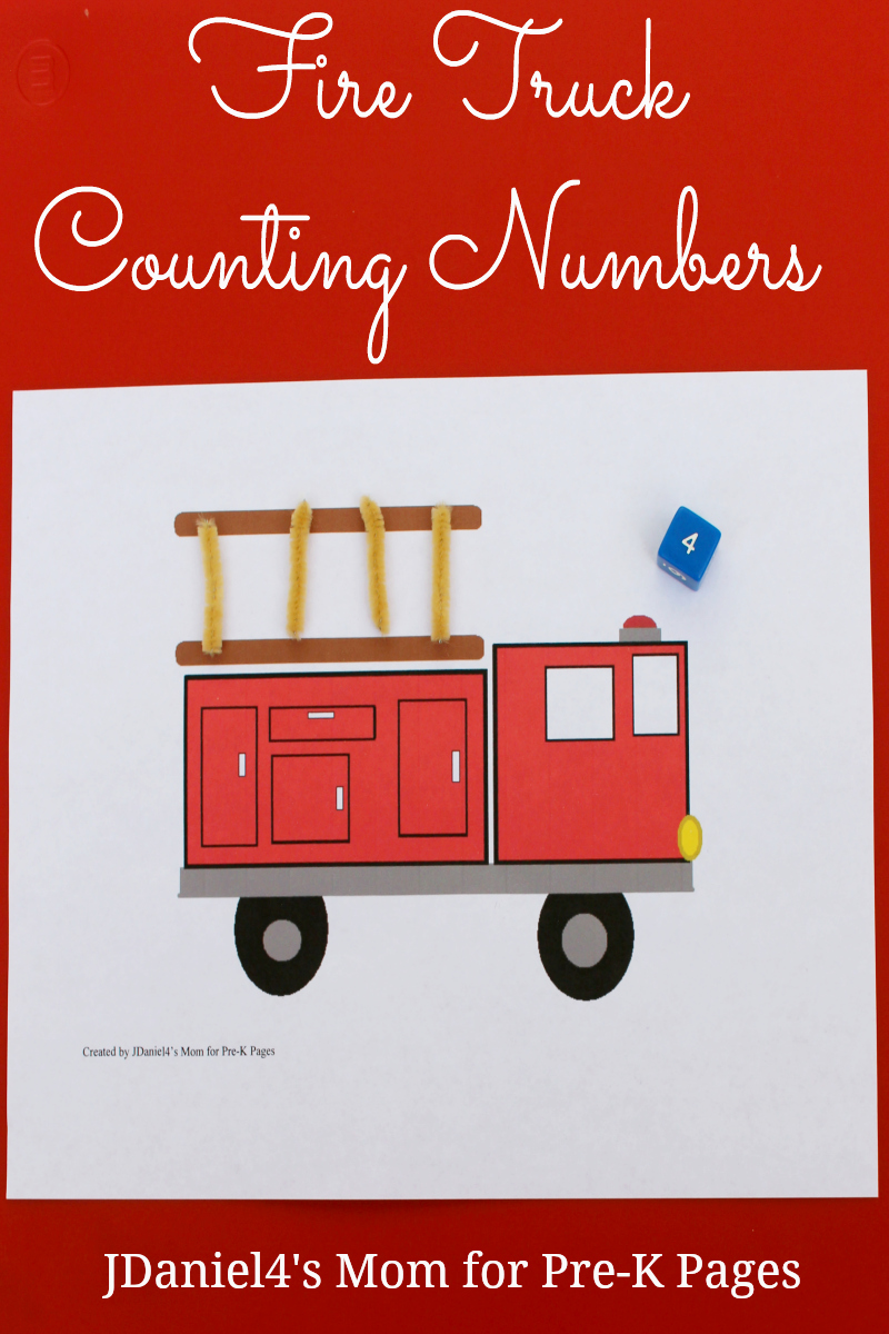 Fire Truck Counting Numbers for preschool