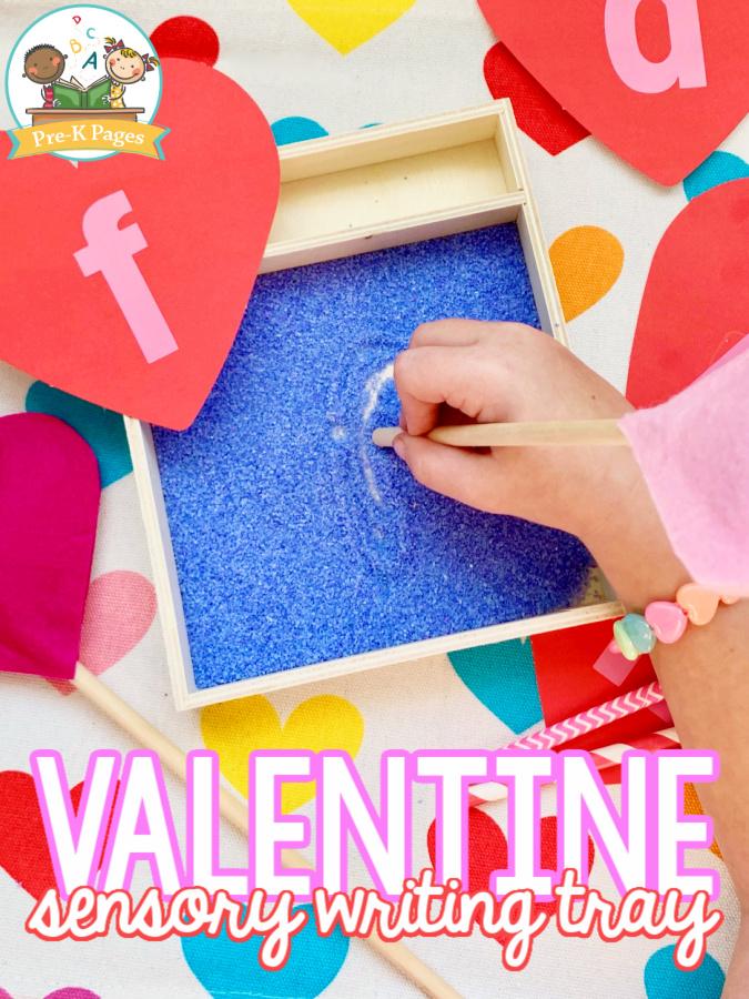 Heart Sensory Writing Tray