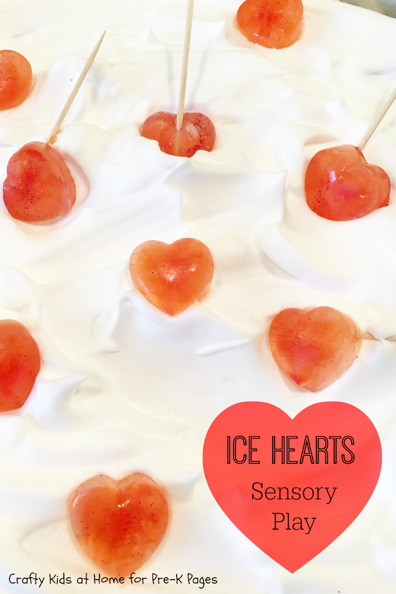 Ice Hearts Sensory Science Experiment For Valentine's Day