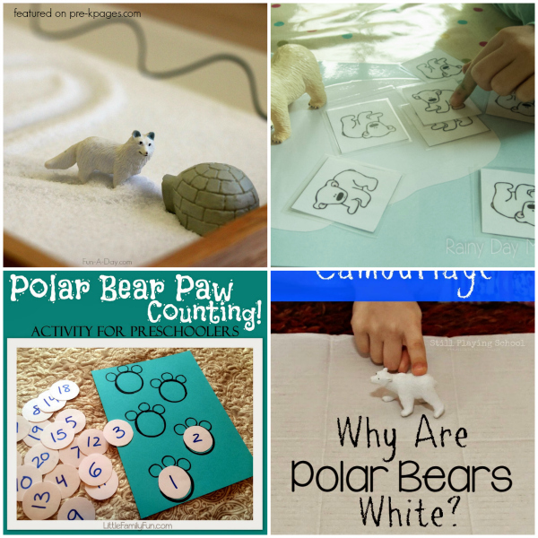 Polar Bear Activities For Kids Pre K Pages