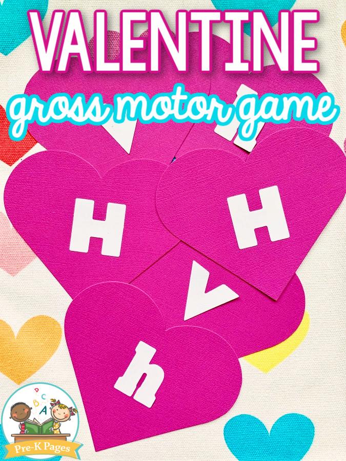 Valentine Gross Motor Game