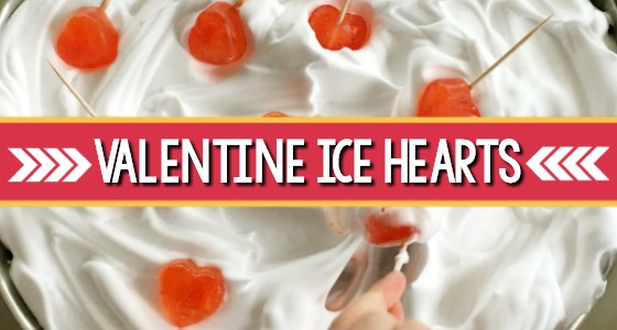 Valentine Science Experiment With Ice Hearts