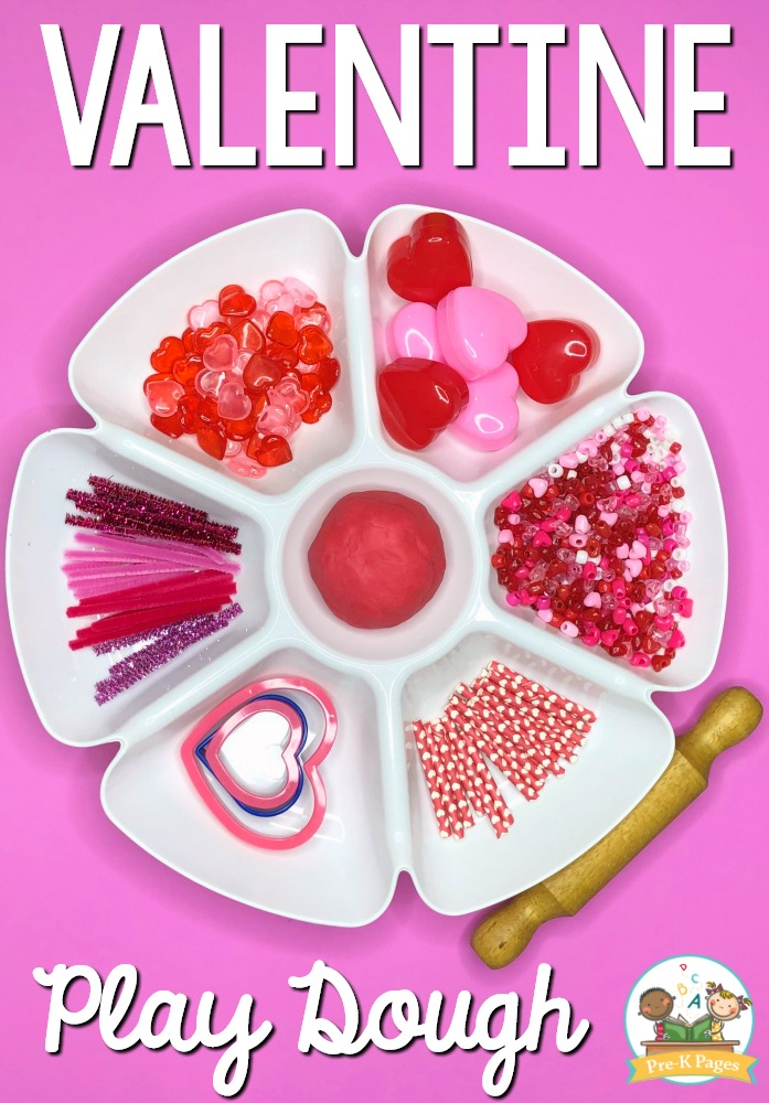 Valentine Play Dough Tray