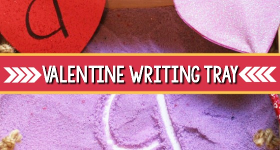 Valentine Sensory Writing Tray