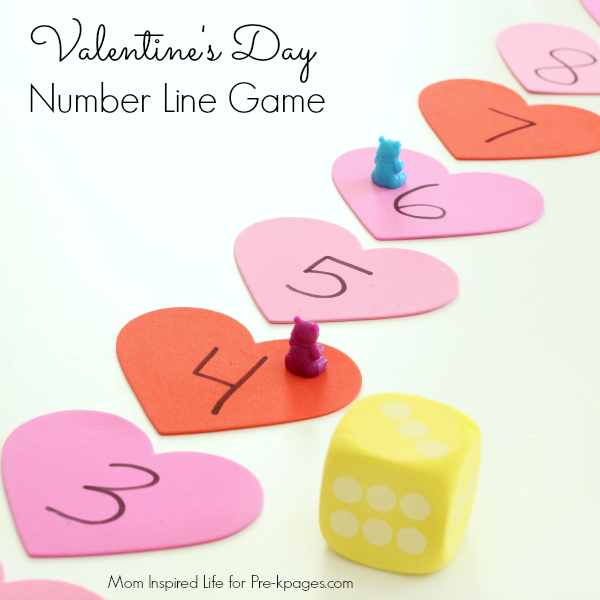 Valentines Day number line game
