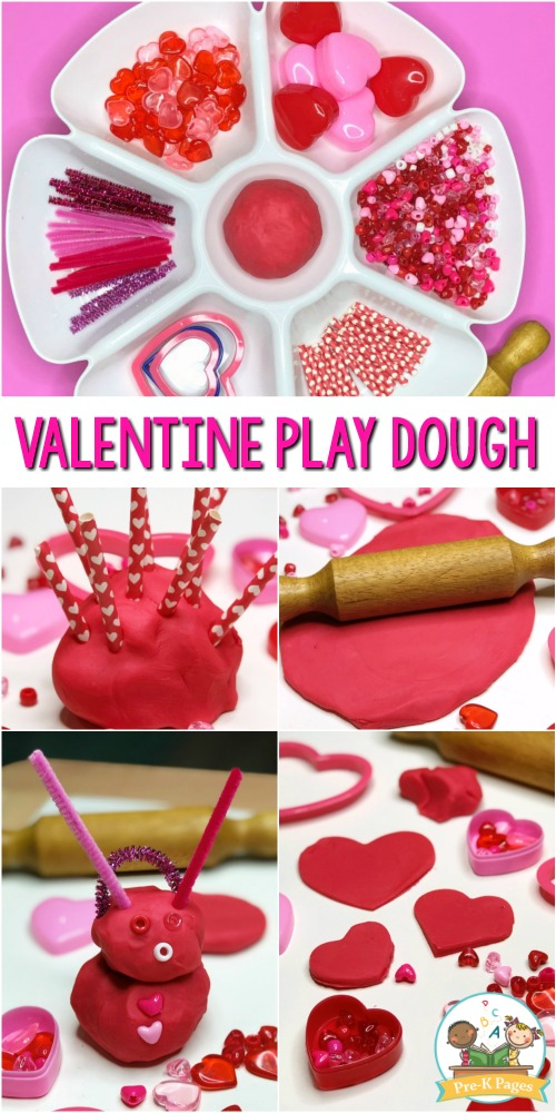 Valentines Day Playdough Activity for Preschoolers