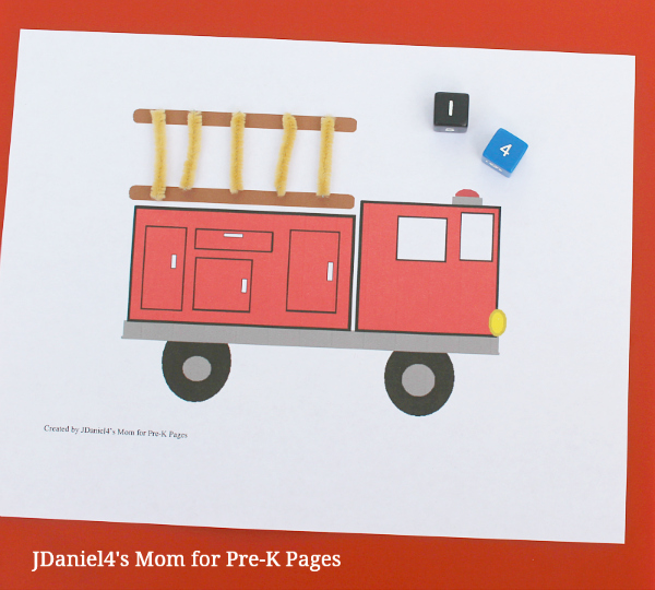 fire truck ladder counting game
