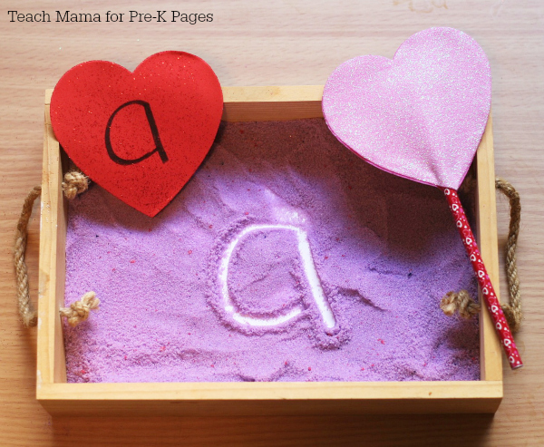 letters for valentine writing tray