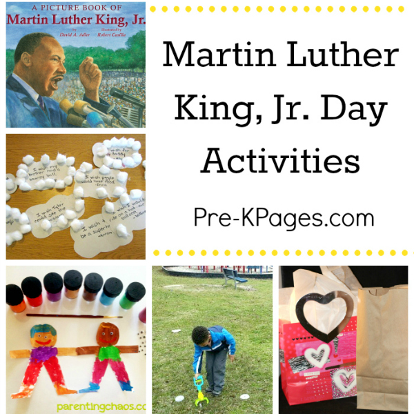 martin luther king activities for preschool