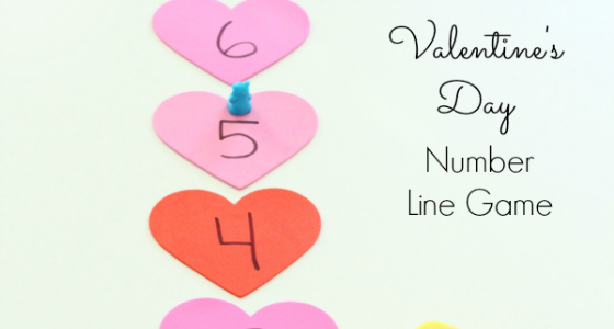 Valentine Number Line Game