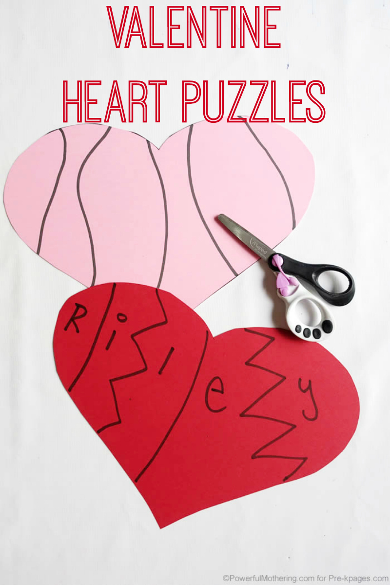 valentine puzzle hearts