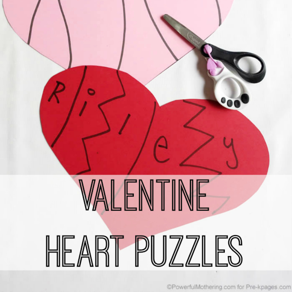 valentine heart puzzles for preschool