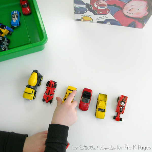 car pattern activity for preschool