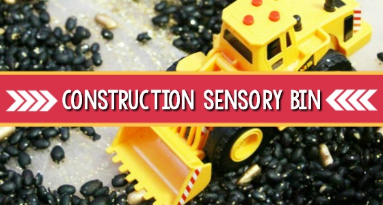 Construction Trucks Sensory Bin