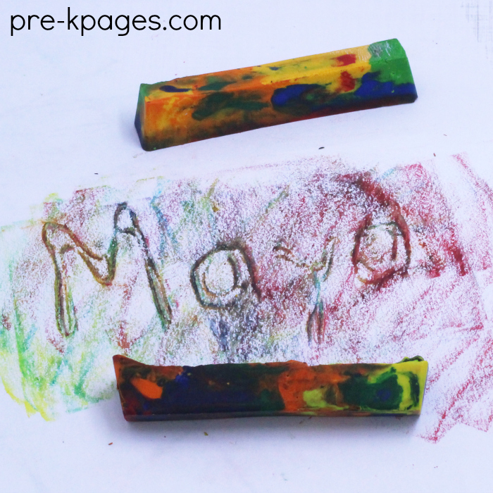 Rainbow Crayon Rubbings