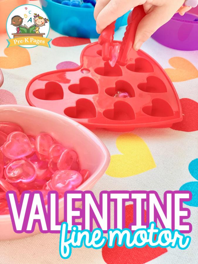Fine Motor Valentine Activity