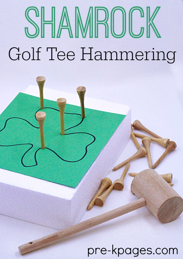 Golf Tee Hammering Fine Motor Activity