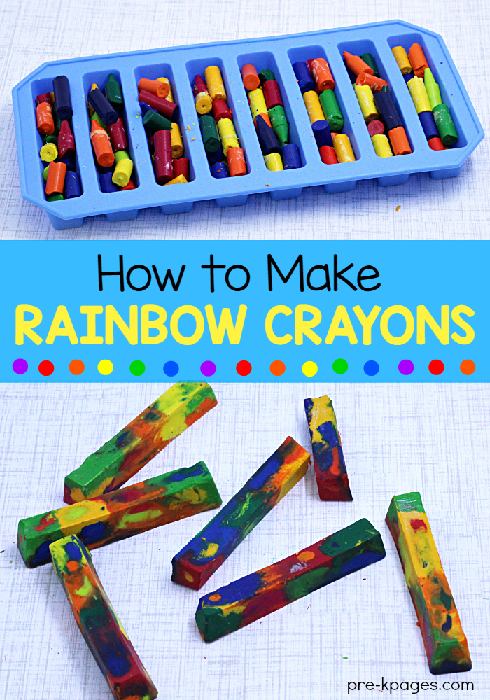 How To Make Rainbow Crayons In The Microwave