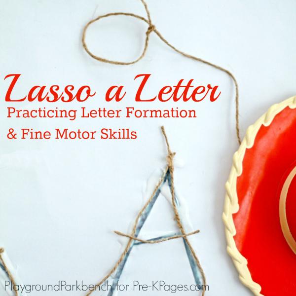 Lasso a Letter western fine motor